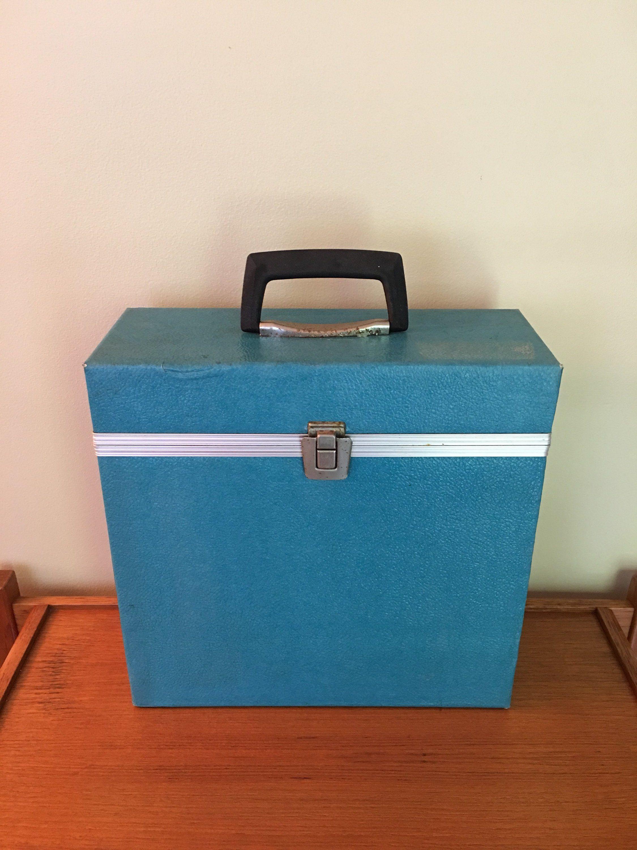 Vintage Record Storage Case Blue Travel Case For Lp Record Albums Platter Pak Album Holder Vinyl Storage Box R Record Storage Vinyl Storage Vintage Records