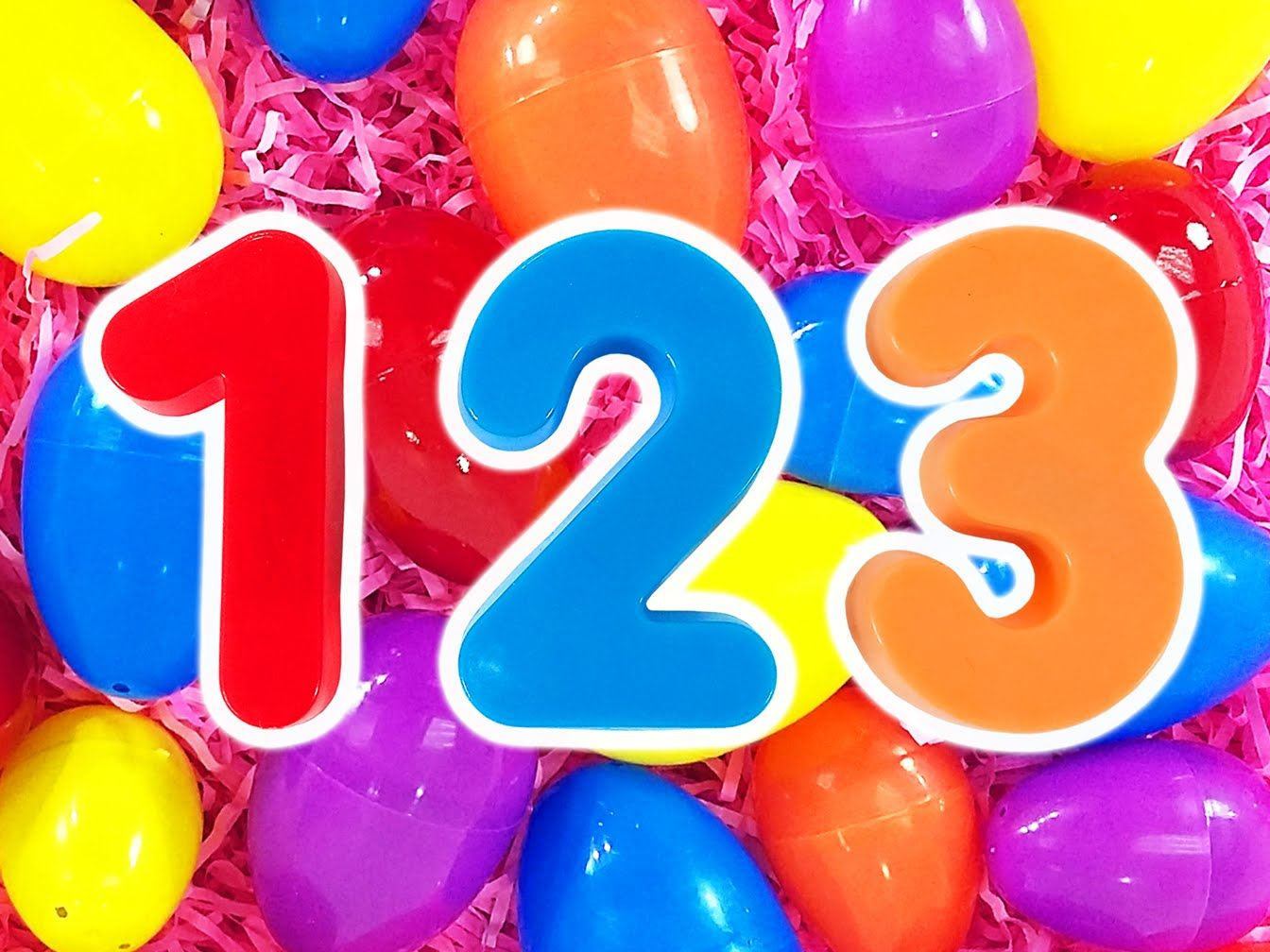 123 Surprise Eggs | Learn Numbers & Counting Compilation, Teach Toddlers...