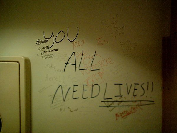 writing on the bathroom wall by trombonegothgirl84deviantartcom
