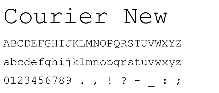 Courier est une police d'écriture à chasse fixe (tous les caractères ont exactement la même largeur) de typograp… | Police d'écriture, Typographie, Machine à écrire