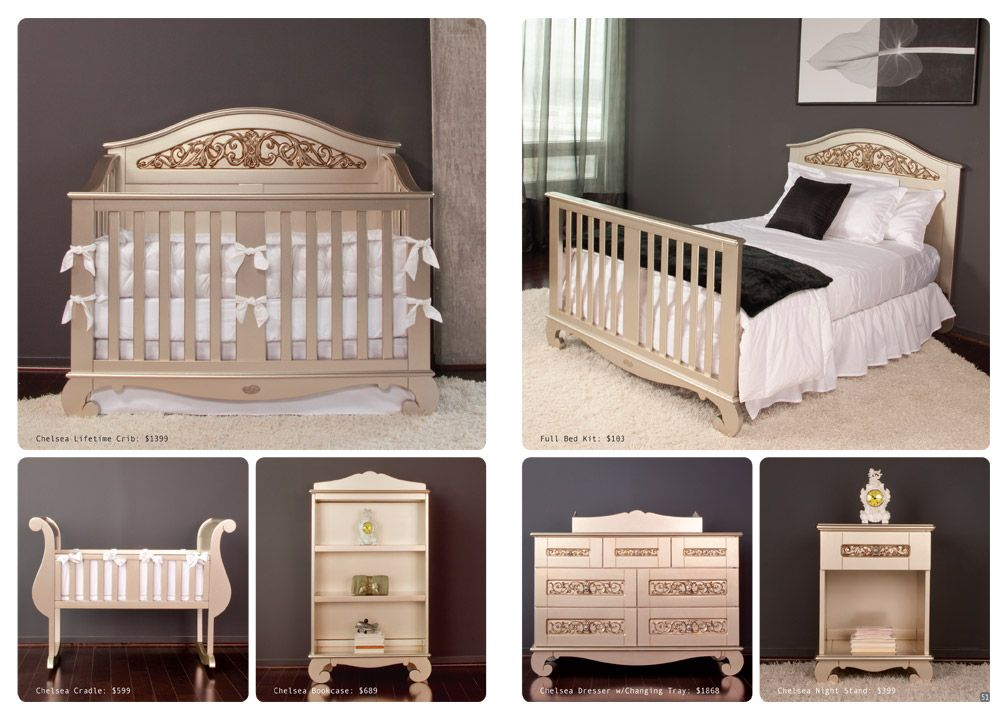 Baby Crib Designer Nursery Luxury, Baby Cribs That Convert To Queen Beds