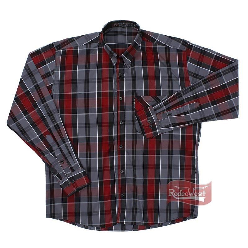 Camisa Masculina Xadrez c/ 1 Bolso Manga Longa - Rodeo Western - RodeoWest