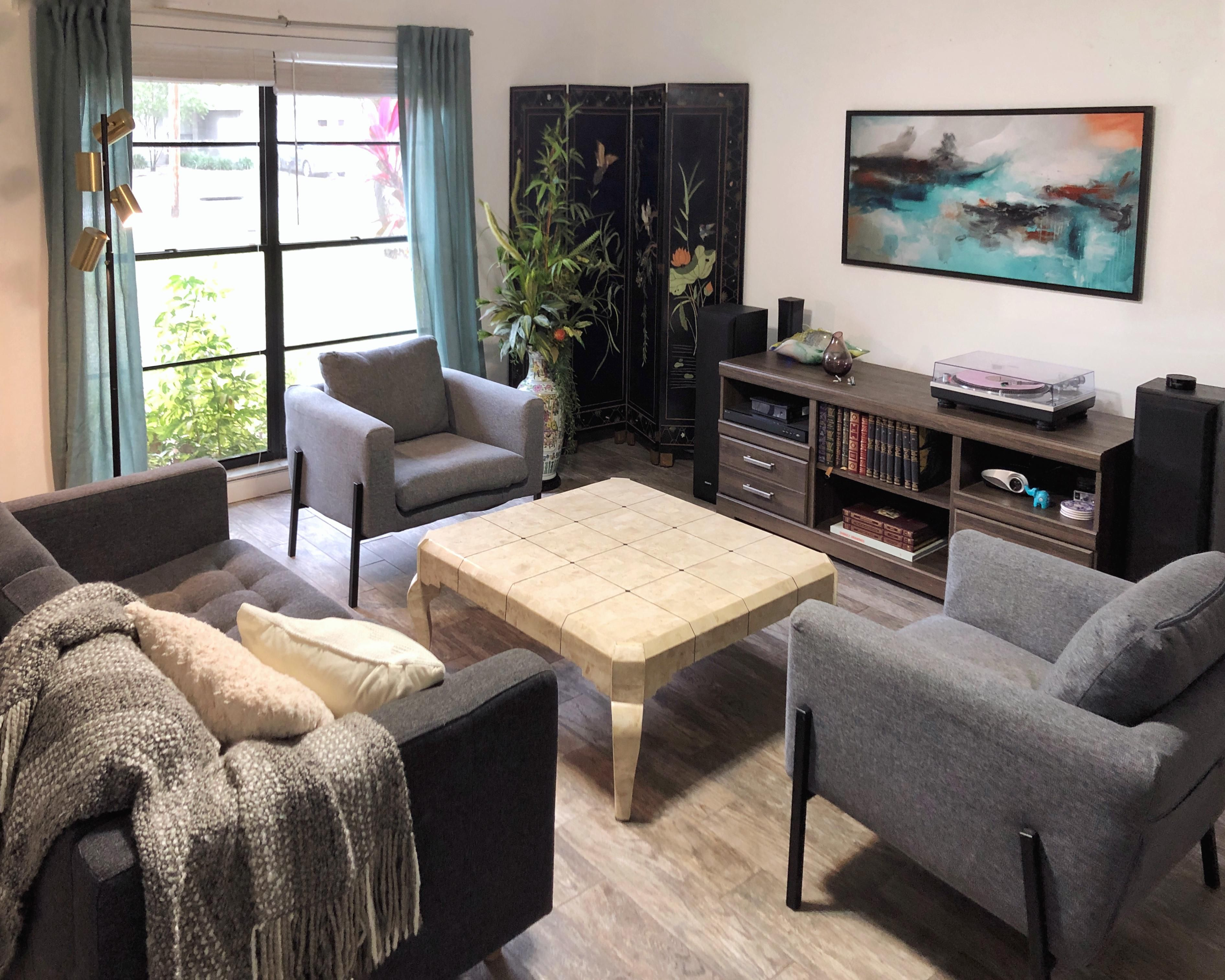 An Eclectic Mashup Of His Hers And Hand Me Down Furniture In Our