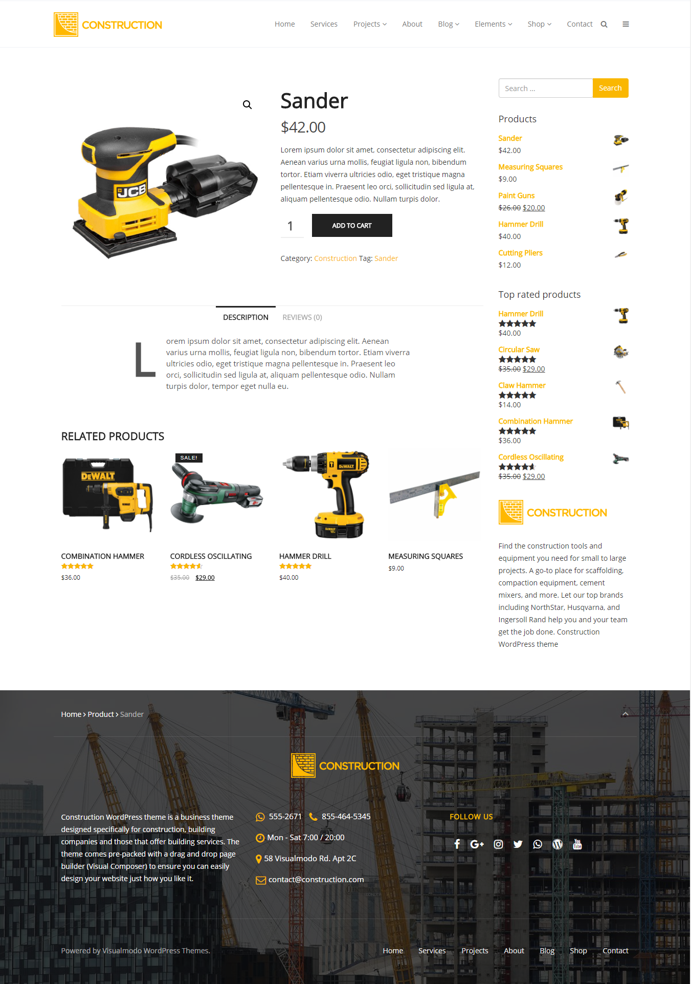 Construction WordPress Theme Building Business Theme by