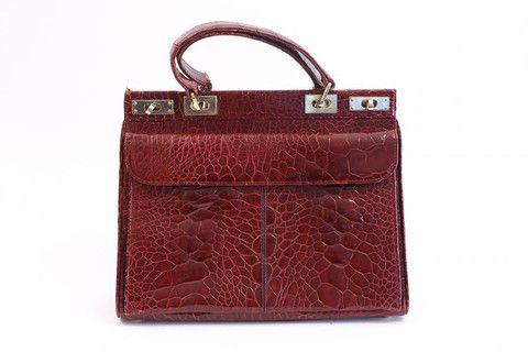 ea787f8943f7 Vintage 60 s Red Turtle Birkin Style Handbag at Rice and Beans Vintage
