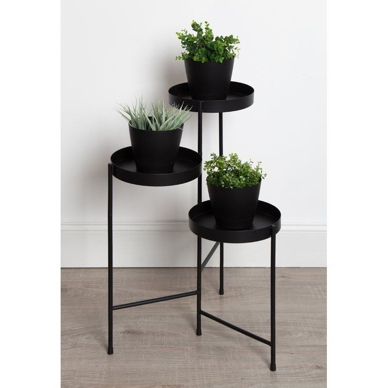 Lofgren Metal Round Multi Tiered Plant Stand Plant Stand Metal