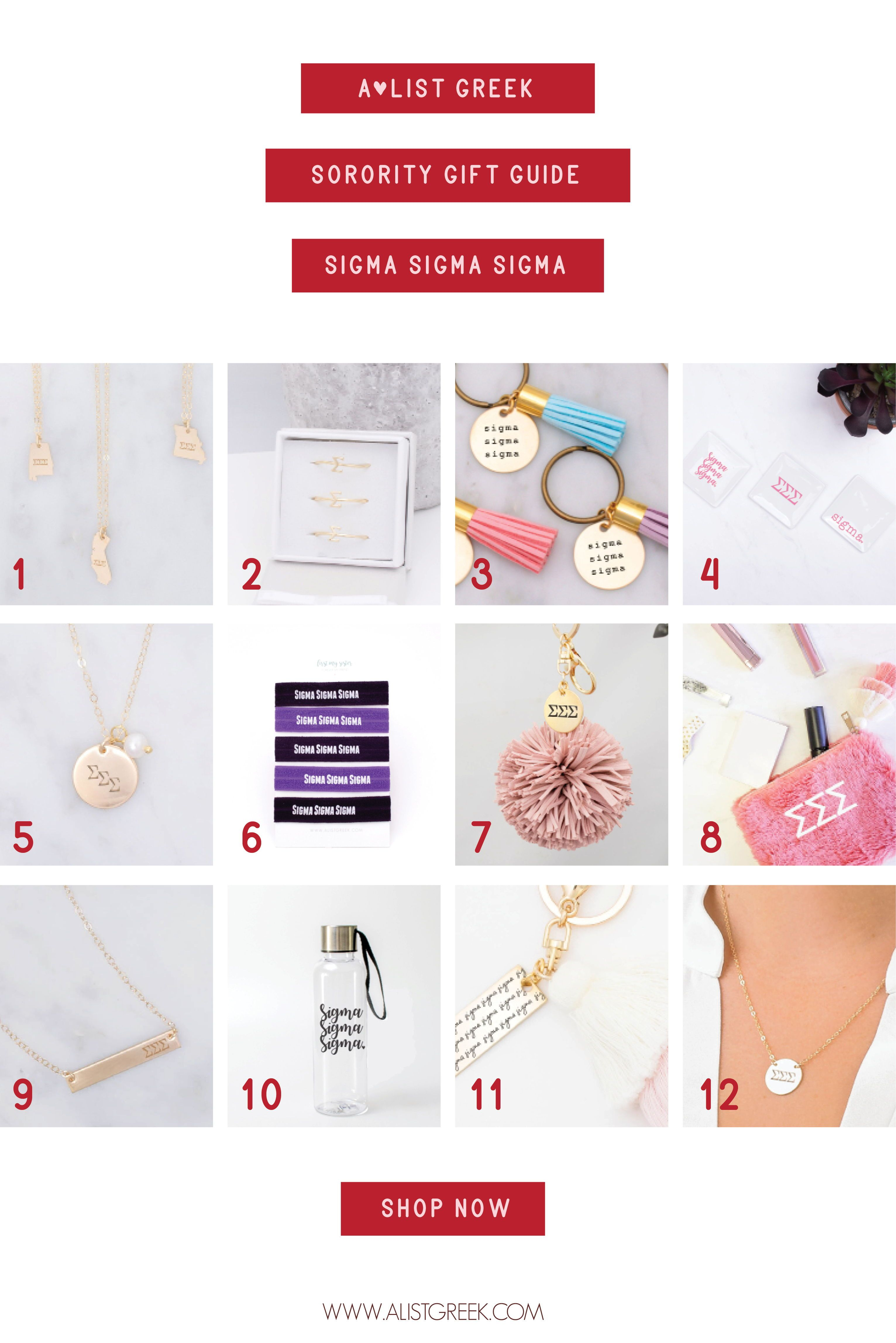 Sigma Holiday Gift Guide  Greek Sorority Jewelry Accessories and Gifts Custom Bid Day Bundles Its the best time of year Besides Bid Day of course And we have all your fav...
