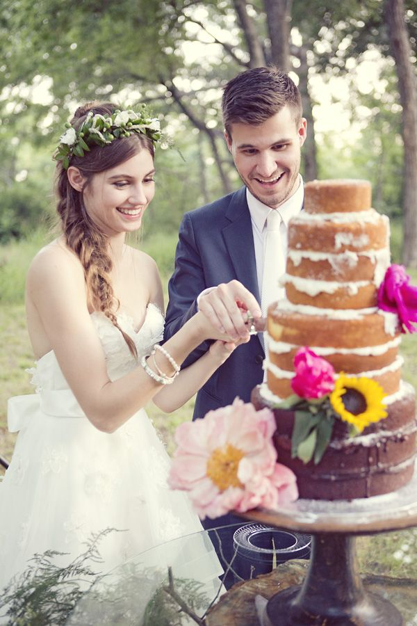 Bohemian Wedding from Sarah Kate Photography  That cake is awesome!
