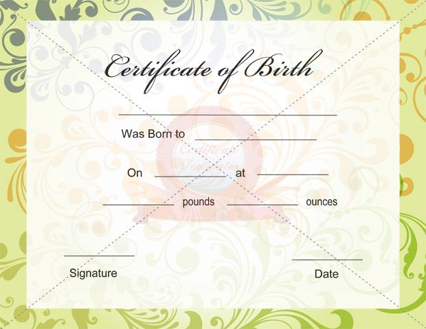 Birth Certificate Template Certificate Template Pinterest - best of birth certificate pic
