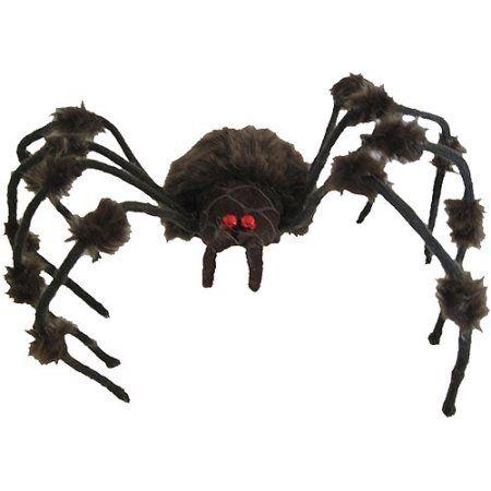 Brown/Gray Hairy Spider Halloween Decoration, Multicolor Walmart - halloween decorations at walmart
