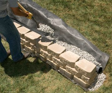 Building A Interlocking Block Retaining Wall Building