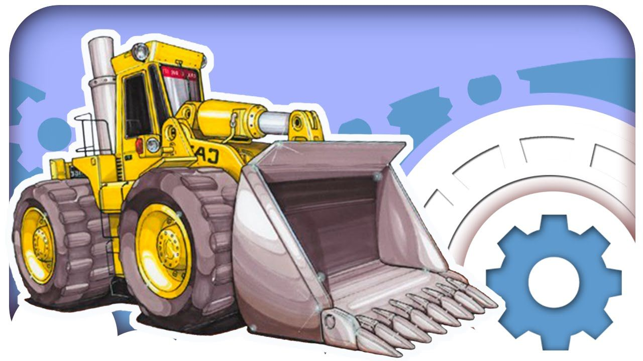 Car Cartoons Bulldozer Heavy Vehicles Excavator Cement Mixer
