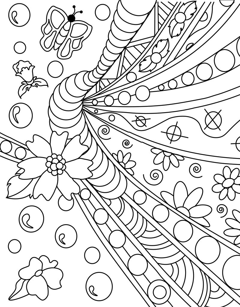 Zendoodle Coloring Big Picture: Calming Garden | Tree ...