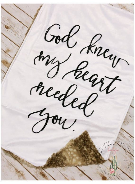 God Knew My Heart Needed You Quote Minky Blanket // Spiritual | Etsy