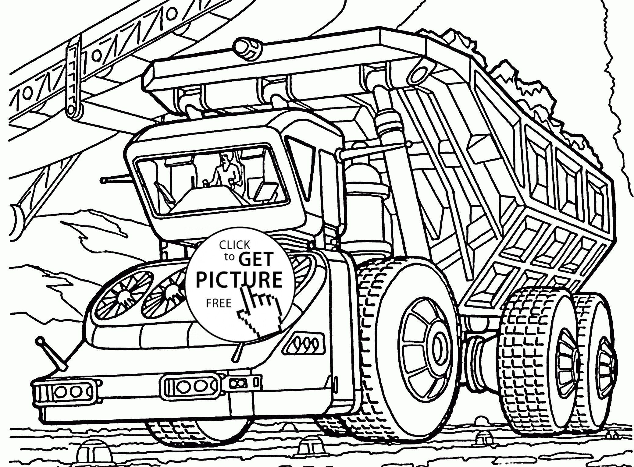Garbage Truck Coloring Page Luxury Military Truck Coloring Pages At Getdrawings Truck Coloring Pages Tractor Coloring Pages Monster Truck Coloring Pages
