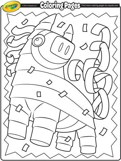 Cinco De Mayo Pinata On Crayola Com Free Coloring Pages Crayola Coloring Pages Coloring Pages