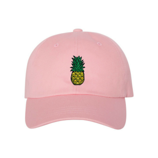 028b696d29072 Official It s Ricco tho Pineapple Dad Cap - Pink 100% cotton chino twill  Unstructured