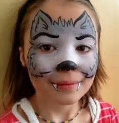 bildergebnis f r wolf face paint how to face paint pinterest wolf kinderschminken und. Black Bedroom Furniture Sets. Home Design Ideas
