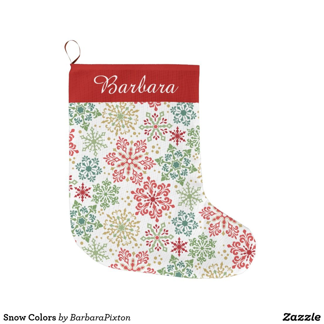 Snow Colors Large Christmas Stocking Large