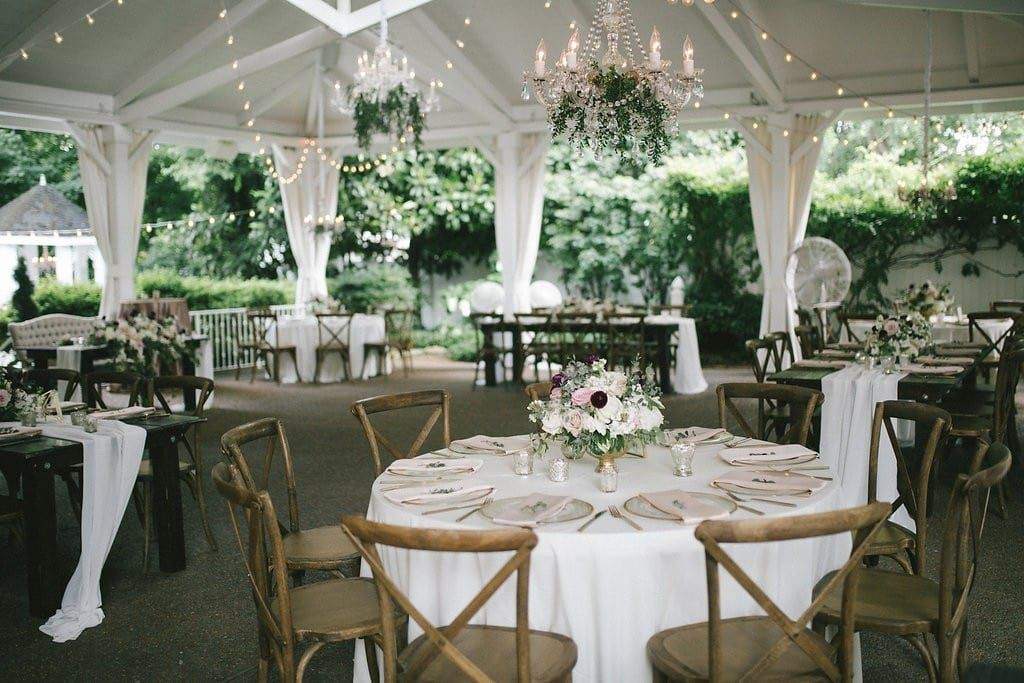 Nashville Summer Garden Wedding in Blush and Burgundy