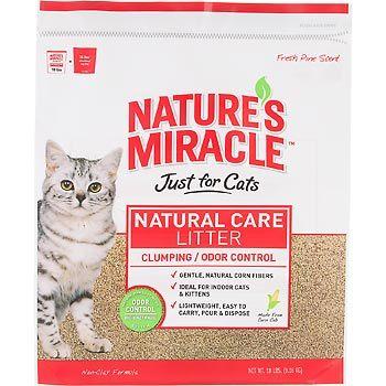 Natures Miracle Premium Clumping Corn Cob Litter 18 lb.
