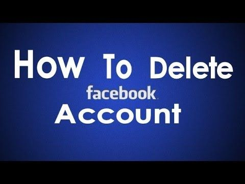 How to permanently delete remove your facebook account youtube how to permanently delete remove your facebook account youtube ccuart Images