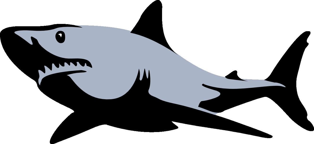 High Res Clip Art Dibujo De Tiburon Tiburones Estarcido