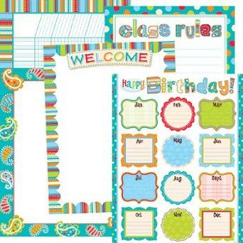 Amazon.com: Dots on turquoise classroom: Office Products