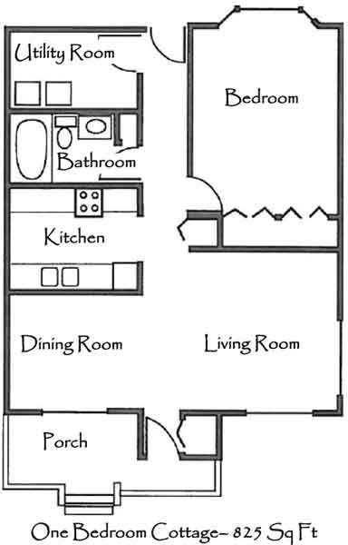 One Bedroom Cottage Floor Plans