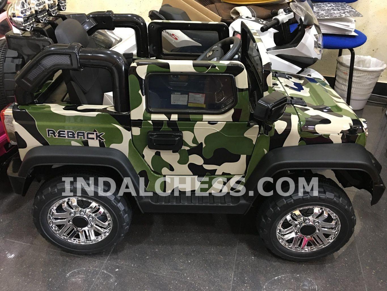Jeep WRANGLER Style 12V RC camuflaje. Asiento piel y ruedas caucho, IndalChess.com Tienda de juguetes online y juegos de jardin