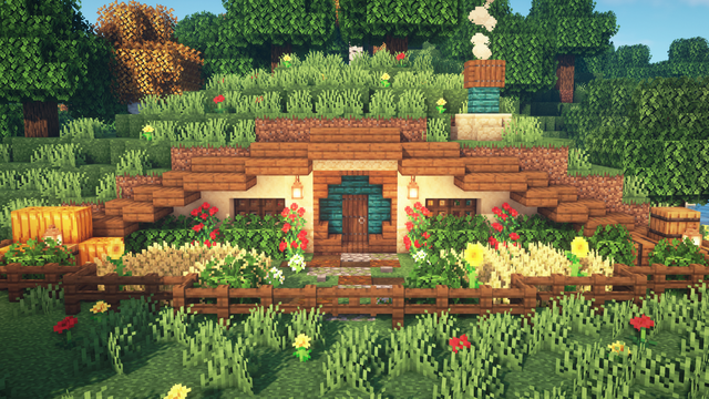 I made a simple and cozy Hobbit house
