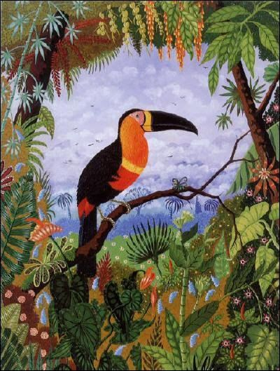 Kids create a jungle drawing inspired by Henri Rousseau and use ...