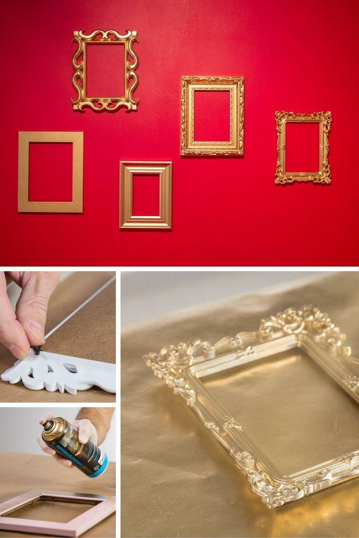 Cómo decorar tus marcos con efecto metálicos ➜ Crea una composición ...