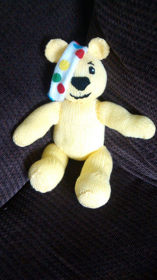 Pudsey Knitted And Auctioned Off For Children In Need Knitting