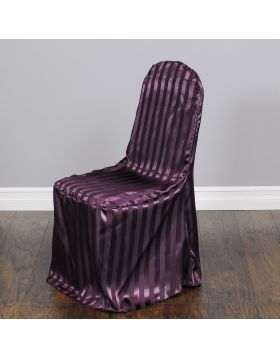 Striped Satin Banquet Chair Cover Eggplant | Chairs Decorations | Pinterest  | Chair Covers, Banquet Chair Covers And Banquet