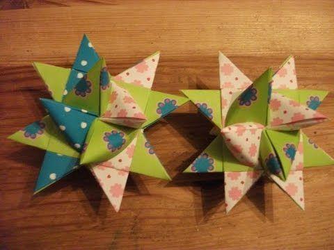 Fröbelstern - Origami Stern basteln - Fröbelsterne Anleitung - Weihnachtssterne falten - YouTube