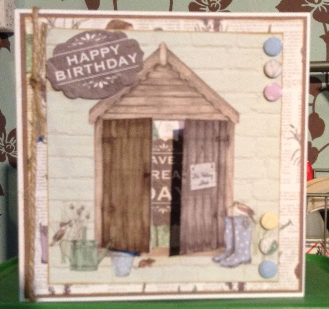 Potting Shed Masculine Birthday Cards Dad Cards