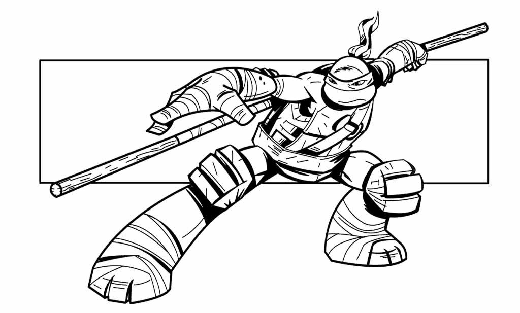Teenage Mutant Ninja Turtle Coloring Page With Images Ninja