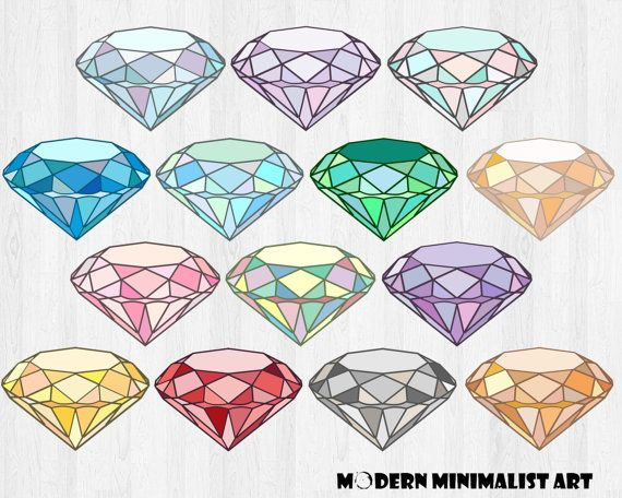 Gems Clipart Clipart Gemstone Clipart Crystal Clipart Stones Diamond Clipart Gradient Clipart Gradient Gems Jewel Drawing Crystal Drawing Finger Tattoos