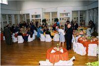 Ballroom set up for a reception