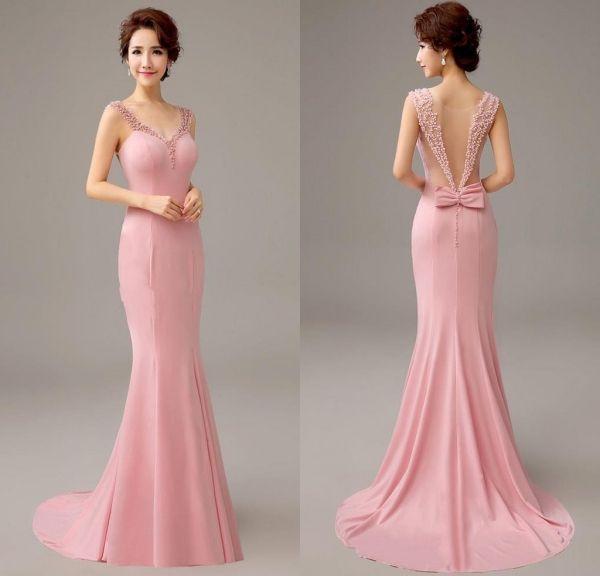 Aliexpress Comprar Pretty 2016 nuevo rosa sirena del Vestido de