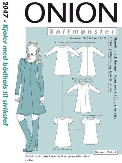 0cd10516 Kjoler med bådhals til strikstof | Sewing | Kjoler, Sy tøj og Tøj