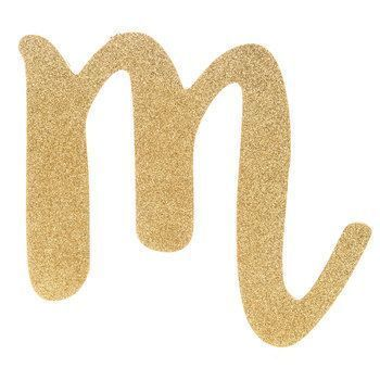 Her name spelled out with Gold Glitter Letter Wood Wall Decor - M ...