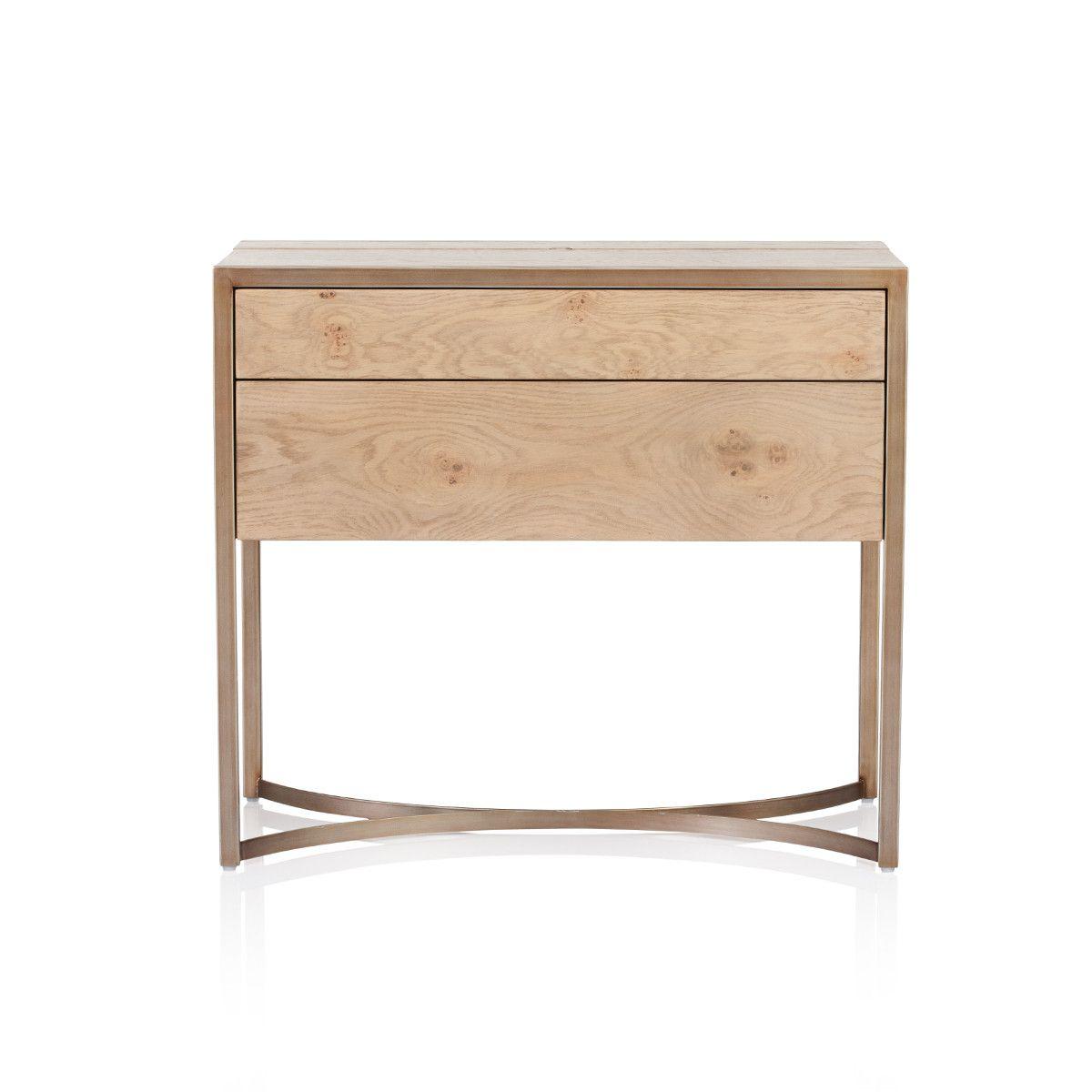 Max Sparrow Manhattan Light Oak Side Table Wooden Bedside Table