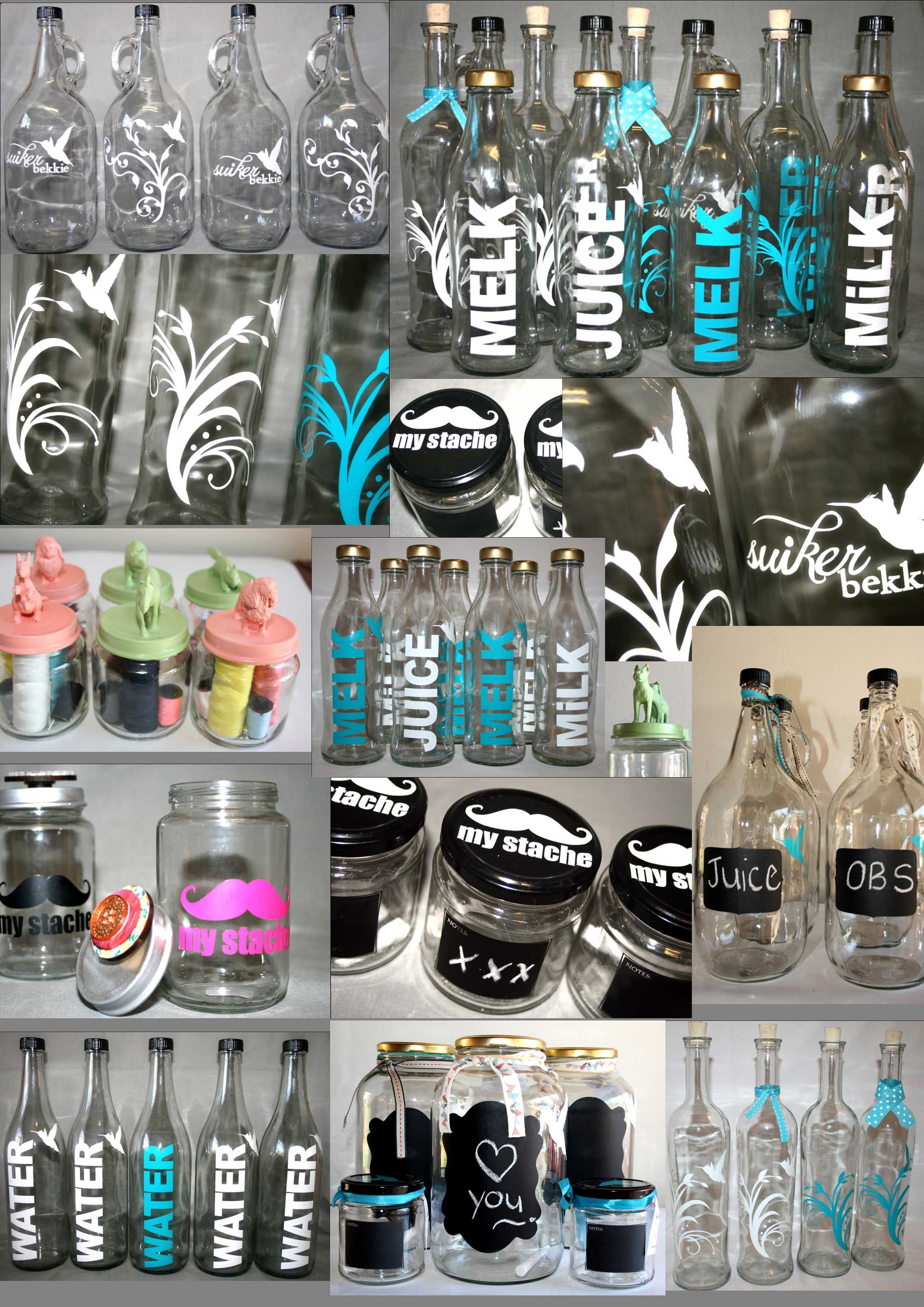 Glass products collage