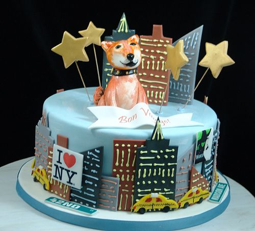 NYC Doggie Cake