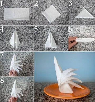 sencillas y elegantes figuras con servilletas de papel