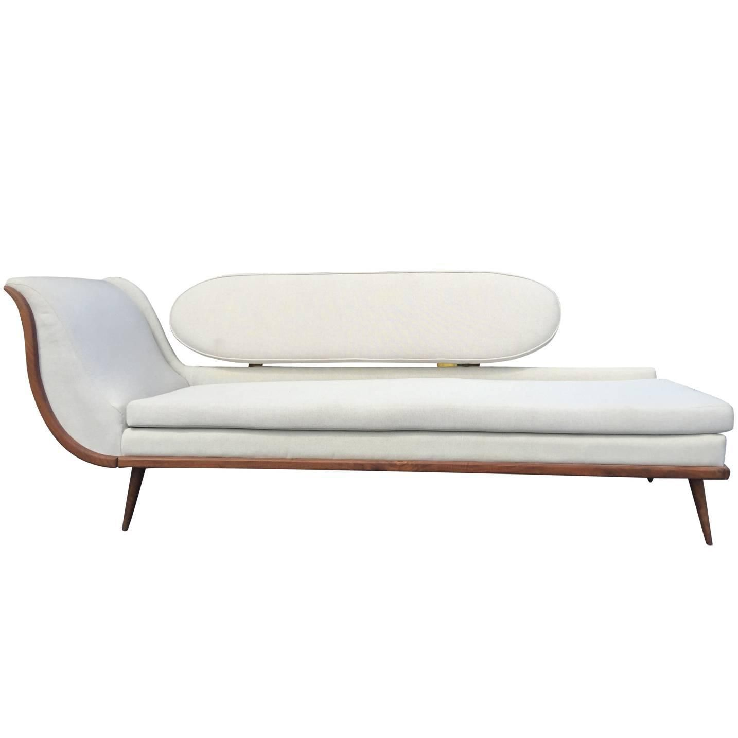 Reclining Sofa Exquisite Mid Century Modern Sofa Settee by Cimon of Montreal See more antique and