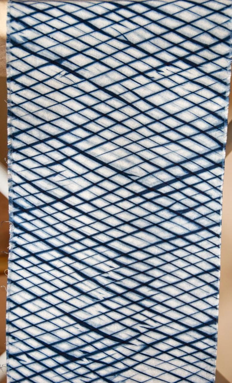 Remember my bucket o' shibori from a while back? On Thanksgiving weekend a few weeks ago, I set up an indoor vat so that I could do one f...
