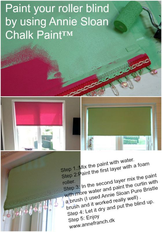 I used Annie Sloan Chalk Paint™ on this roller blind for my dagthers room . It…